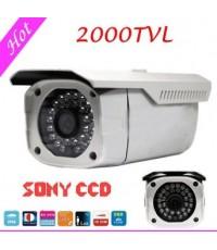 กล้องวงจรปิด ชิพเซ็ท SONY 2000TVL SONY CCD Camera HD  Waterproof Outdoor Camera with Night Vision