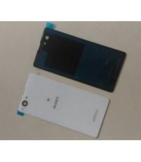 ฝาปิดหลังสีขาวพร้อมกาว Sony xperia z1 mini compact D5503 M51w