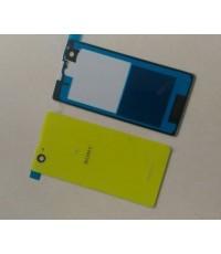 ฝาปิดหลังสีเหลืองพร้อมกาว Sony xperia z1 mini compact D5503 M51w