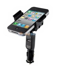 Universal 360° Adjustable Car Mount Holder Stand  USB Car Charger for iPhone /HTC /Samsung /Nokia /