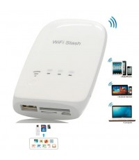 WiFi Stash Wireless Flash Drive, Card Reader สำหรับ iOS, Android OS และ PC