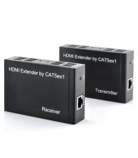 HDMI Extender ต่อสัญญาณ HDMI ระยะทาง 100 เมตรด้วยสาย CAT5E/6