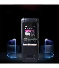 เครื่องบันทึกเสียงคุณภาพสูง Dual Microphone, เครื่องเล่น MP3, 8GB สีดำ