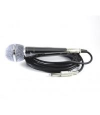 ไมโครโฟน สำหรับร้องคาราโอเกะ Ceflar เคสโลหะสี Titanium รุ่น CM-001