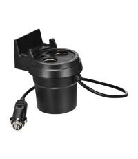 Hoco Auto Charger Cup เครื่องชาร์จแบตเตอรี่ในรถยนต์ 2 ช่อง USB 2 ช่องจุดบุหรี่ รุ่น UC207