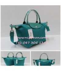 Longchamp Le Pliage Neo Shopping Handbag สีเขียวมิ้นท์ Emerald