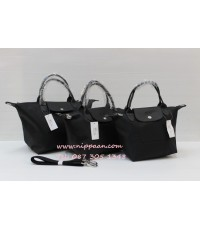 Longchamp Le Pliage Neo Shopping Handbag สีดำ / Noir