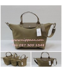 Longchamp Le Pliage Neo Shopping Handbag สีน้ำตาลทอง Taupe