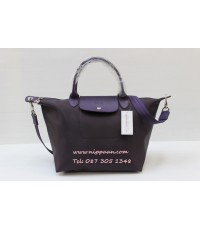 Longchamp Le Pliage Neo Shopping Handbag สีม่วง Billberry