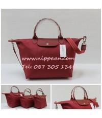 Longchamp Le Pliage Neo Shopping Handbag สีเเดง
