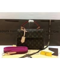 Louis Vuitton CLUNY BB Monogram Canvas M42738 Mirror 1:1 ฺBourgogne สายสะพายสีชมพู