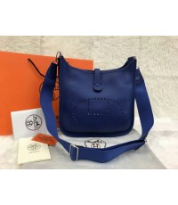 Hermes Evelyne III PM Bag สีน้ำเงินสด Blue Electric Togo leather Top mirror image 7 stars