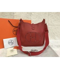 Hermes Evelyne III PM Bag สีแดงสด Rouge  Togo leather Top mirror image 7 stars