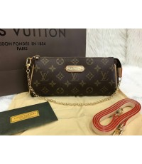Louis Vuitton EVA CLUTCH M95567 in Monogram canvas Top Mirror Image 7 stars เกรด  Hi End