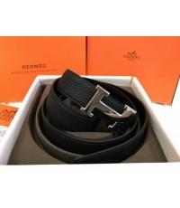 Hermes Black/Black 42mm Reversible Constance H Belt Kit งาน Hi end สีดำเดินด้ายดำค่ะ