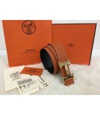 Hermes Orange /Black 42mm Reversible Constance H Belt Kit งาน Hi end สีส้ม