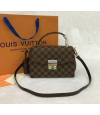 Louis Vuitton Damier Ebene canvas CROISETTE N41581 Top Mirror Image 7 stars