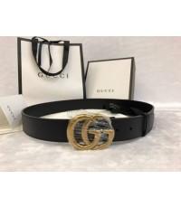 Gucci Leather belt with Double G buckle งานเกรดดีที่สุดค่ะ