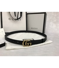 Gucci Leather belt with Double G buckle ขนาด 1 นิ้ว งานเกรดดีที่สุดค่ะ