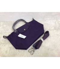 Longchamp Le Pliage Neo Shopping Handbag สีม่วง Size M