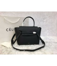 CELINE MICRO BELT BAG IN GRAINED CALFSKIN  เกรด HI END 24 CM สีดำ