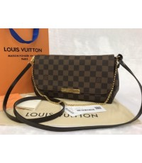 Louis Vuitton FAVORITE MM N41129 in Damier Ebene Mirror 1:1