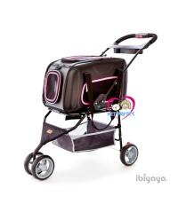 รถเข็นสุนัขIbiyaya Pet One2Goรุ่นนี้2in1 +กระเป๋าสะพาย+รถเข็น รองรับนน.1-8กก