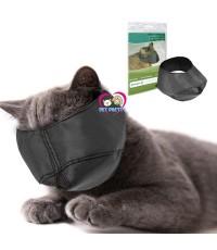 Nylon Cat Muzzles size S-Mหน้ากากแมว แบรนด์จีน สีดำ เอาไว้ตัดเล็บ เช็ดหูบังคับแมว 3-6kg