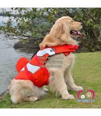 เสื้อชูชีพสุนัขสีส้มปลานีโม สินค้านำเข้ายี่ห้อLD ไซส์ S รอบ-อกตัว40-52 ซม.หรือ16-20.5นิ้ว