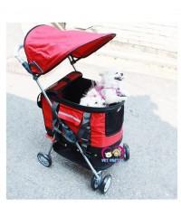 รถเข็นสุนัขราคาถูก Chinaมี4ล้อ รุ่น3In1 รองรับนน.สุนัข1-15กก. ถอดออกมาเป็นกระเป๋าได้ ประหยัดราคาถูก