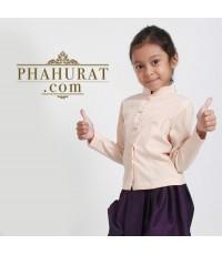 ชุดไทยเด็กพิ้นบ้าน (เด็กหญิง )
