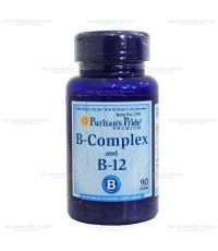 Puritan Vitamin B Complex + Vitamin B-12 (USA) บำรุงผิวพรรณ ผม เเละระบบประสาท ลดอาการอ่อนเพลียจากการ