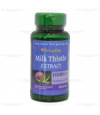 Puritan\'s Pride Milk Thistle 1000 mg (Silymarin) 90 Softgels สารต้านอนุมูลอิสระ ดีท็อกซ์ตับ บำรุงแล
