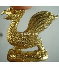 หลวงปู่ทิม วัดพระขาว นกสวรรค์ ภายุภักษ์ปักษา เนื้อทองเหลือง