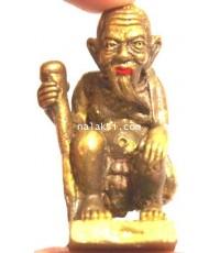 หลวงปู่ขุ้ย วัดซับตะเคียน รูปหล่อ ชูชกตาเฒ่าเจ้าทรัพย์ ปากแดง เนื้อทองทิพย์พิมพ์ใหญ่ รวย โคตร โคตร