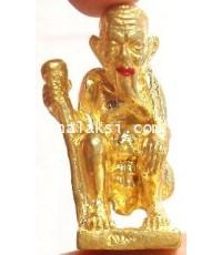หลวงปู่ขุ้ย วัดซับตะเคียน รูปหล่อ ชูชกตาเฒ่าเจ้าทรัพย์ ปากแดง เนื้อทองทิพย์ พิมพ์เล็ก รวย โคตร โคตร