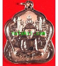 เหรียญโต๊ะหมู่บูชา รุ่นสุดท้าย หลวงพ่อปกรณ์ วัดถ้ำผาแด่น เนื้อทองแดงขัดเงาพ่นทรายนาค