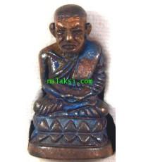 รูปหล่อหลวงพ่อทวดบัวรอบรุ่นแรก  สมเด็จพระมหาวีรวงศ์  วัดสัมพันธวงศ์ เนื้อทองผสมผิวไฟ