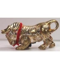 วัวธนู กระทิงเถื่อนรุ่นแรก หลวงปู่นิ่ม วัดพุทธมงคล เนื้อนวะโลหะ
