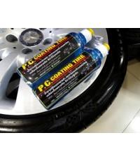 น้ำยาคลือบ ยางดำเงา P.C. Coating tire แพ็ค 2 ขวดคู่ 700ml ปกป้องรักษาหน้ายางและชิ้นส่วนพลาสติก ไม่แต