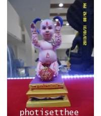 (ของหมด)กุมารโกยทรัพย์(ขนาด3บูชานิ้ว)เนื้อเพ้นสีสร้าง99ตนหลวงพ่อสมชาย วัดด่านเกวียน จ.นครราชสีมา