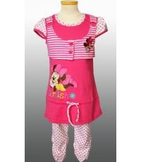 ชุดเสื้อกางเกงลายจุดสีชมพู Minnie ไซด์ 4