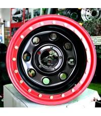 กระทะเหล็กขอบแดง soft8 16x10-40 5x139.7