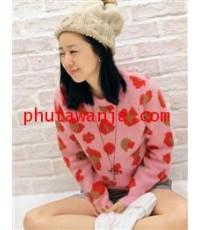 เสื้อกันหนาวคอกลมแสนสวย พิมพ์ลายเก๋ๆ เนื้อผ้า cotton แฟชั่นนำเข้าจากเกาหลี แบบสวยน่ารักมากๆค่ะ