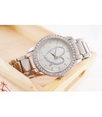นาฬิกา DKNY หน้าปัดกลม แต่งเพชร