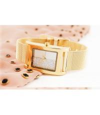 นาฬิกา DKNY สายเลสทอง พื้นหน้าปัดแต่งเพขร