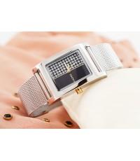 นาฬิกาสายเลสถัก สีบรอนซ์