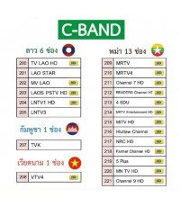 ชุดจาน C Band สำหรับAEC เพือนบ้าน 0846529479