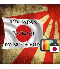 IPTV Japan MYK 264 + VOD สามารถดูรายการได้ 50 ช่องรายการ กินสัญญาณ internet ไม่มาก