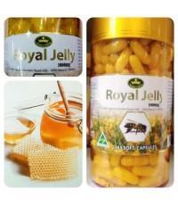 นมผึ้งเนเจอร์สคิง รอยัลเจลลี่ 1,000mg. Nature\'s King Royal Jelly 1,000mg. (365 แค็ปซูล)
